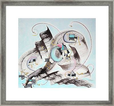 Ocean Breeze Framed Print by Asha Carolyn Young