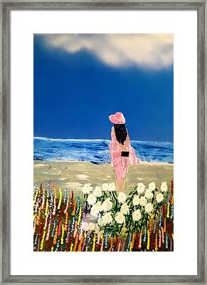 Framed Print featuring the painting Ocean Breeze by Michael Rucker
