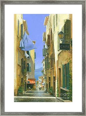 Framed Print featuring the painting Ocean Breeze by Michael Swanson