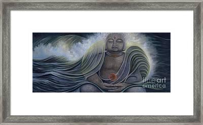 Ocean Buddha Framed Print