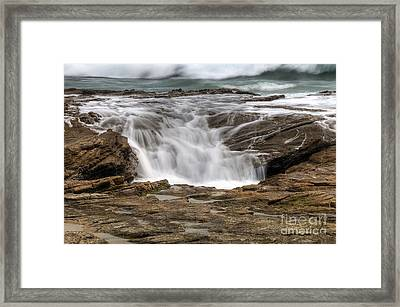 Ocean Cascade Framed Print by Eddie Yerkish