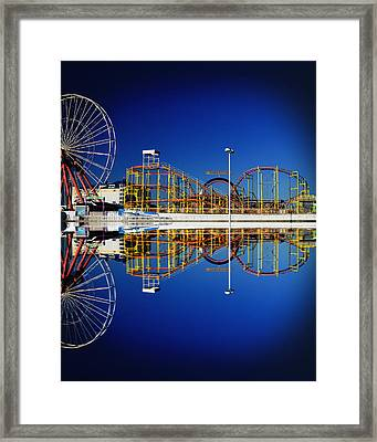 Ocean City Amusement Pier Reflections Framed Print