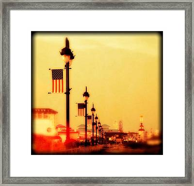 Ocean City At Dusk Framed Print
