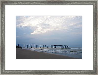 Ocean City At The  59th Street Pier Framed Print
