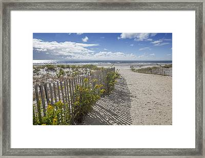 Ocean City Beach 2 Framed Print by Al Hurley