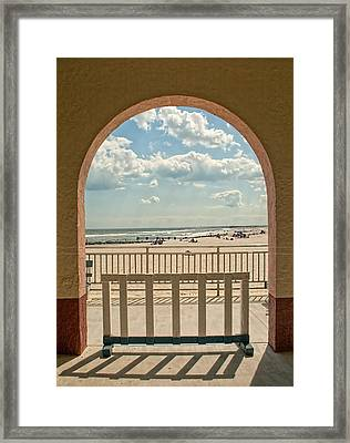 Ocean City Beach View Framed Print