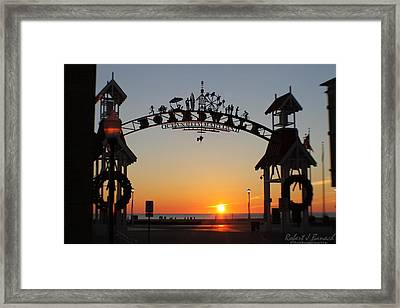 Ocean City Boardwalk Arch New Year Sunrise Framed Print