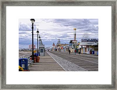 Ocean City Boardwalk Framed Print