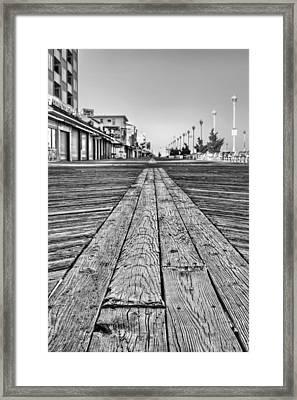 Ocean City Bw Framed Print by JC Findley
