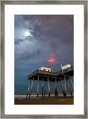 Ocean City By Moonlight Framed Print