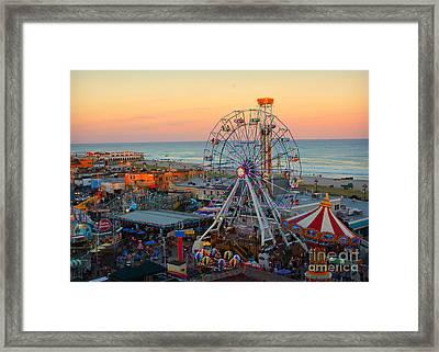 Ocean City Castaway Cove And Music Pier Framed Print