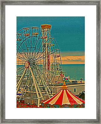Ocean City Castaway Cove Ferris Wheel Framed Print