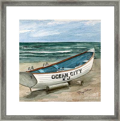 Ocean City Lifeguard Boat 2  Framed Print