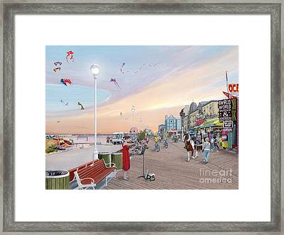 Ocean City Maryland Framed Print by Albert Puskaric