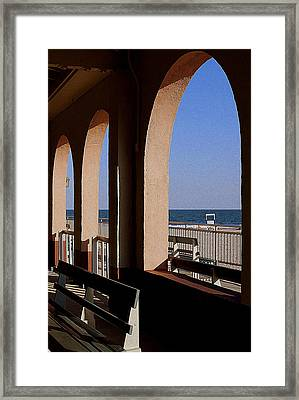 Ocean City Music Pier View Framed Print by Mary Beth Landis
