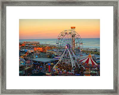 Ocean City Nj Boardwalk And Music Pier Framed Print
