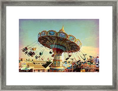 Ocean City Nj Carousel Swing Time Framed Print