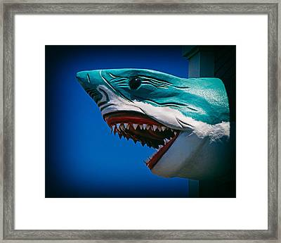 Ocean City Shark Attack Framed Print