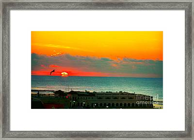 Ocean City Sunrise Over Music Pier Framed Print