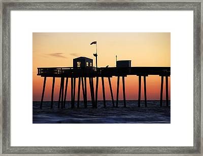 Framed Print featuring the photograph Ocean City Sunset by Dan Myers