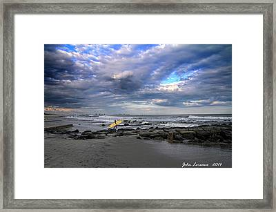 Ocean City Surfing Framed Print
