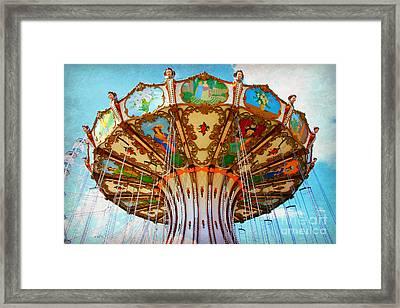 Ocean City Swing Carousel Framed Print