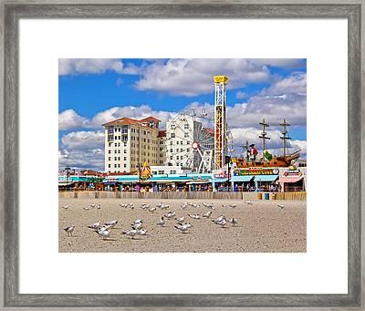 Ocean City View Framed Print