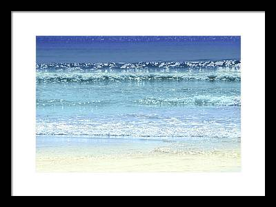 Sandy Beach Photographs Framed Prints