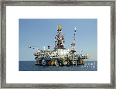 Ocean Confidence Drilling Platform Framed Print