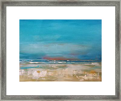 Framed Print featuring the painting Ocean by Diana Bursztein