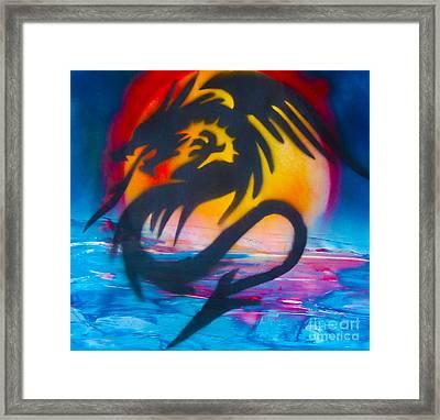 Ocean Dragon Framed Print by William  Dorsett