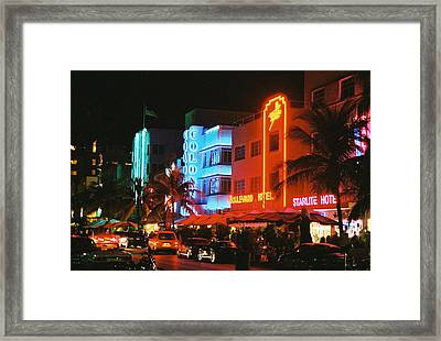 Framed Print featuring the photograph Ocean Drive Film Image by Gary Dean Mercer Clark