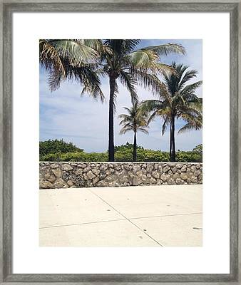 Ocean Drive Framed Print by Lisa Piper