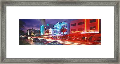 Ocean Drive, Miami Beach, Miami Framed Print by Panoramic Images