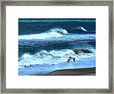 Ocean During A Storm Framed Print by Sandi OReilly