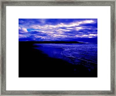 Ocean Dusk Framed Print by Zinvolle Art