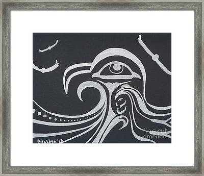 Ocean Eagle Eye Framed Print by A Cyaltsa Finkbonner