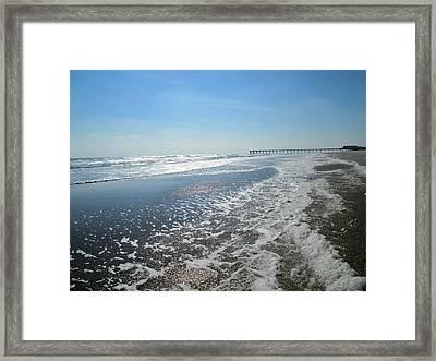 Ocean Foam Framed Print
