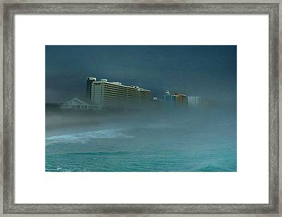 Framed Print featuring the photograph Ocean Fog by Ed Roberts