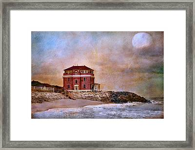 Ocean Front Framed Print by Barbara Manis