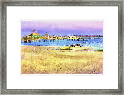 Coastal - Beach - Boats - Ocean Front Property Framed Print