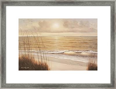 Ocean Glow Framed Print by Diane Romanello