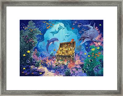 Ocean Grotto Framed Print by Steve Read