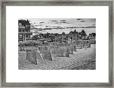 Ocean Grove Asbury Park Nj Bw Framed Print by Susan Candelario