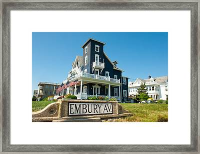 Ocean Grove B And B Framed Print