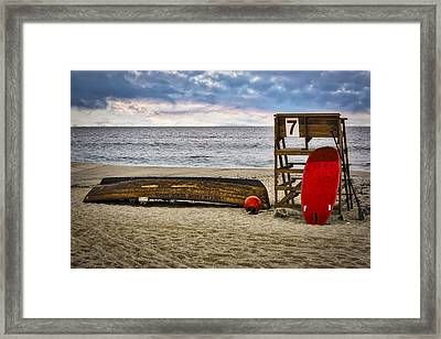Ocean Grove Beach New Jersey Framed Print