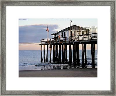 Ocean Grove Fishing Club Framed Print by William Walker