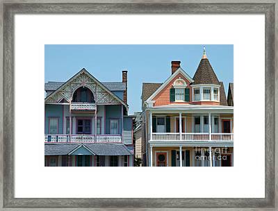 Ocean Grove Gingerbread Homes Framed Print by Anna Lisa Yoder