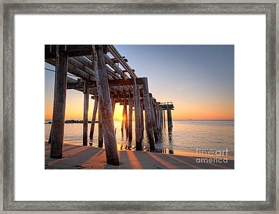 Ocean Grove Pier Sunrise Framed Print