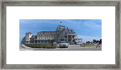 Ocean House Pano - Rhode Island Framed Print by Anna Lisa Yoder
